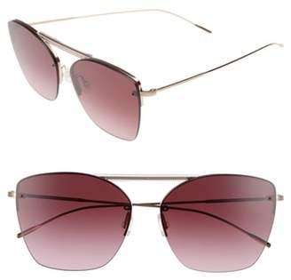 Oliver Peoples Ziane 61mm Rimless Sunglasses