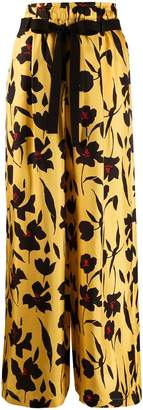 Alysi floral-print wide-leg trousers