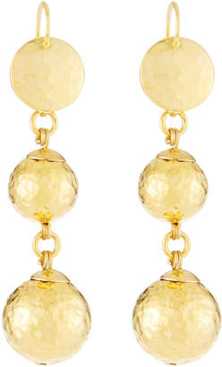 Jose & Maria Barrera Hammered Double-Drop Earrings