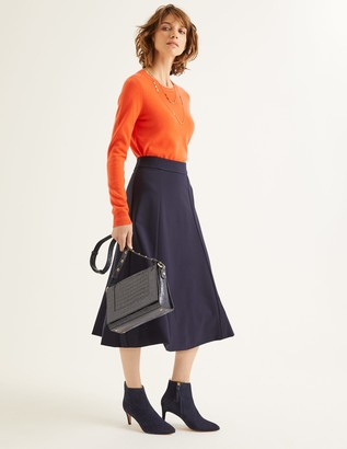 Boden Rosie Ponte Midi Skirt