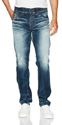 True Religion Men's Geno Slim Straight Jeans with Back Flap Pockets