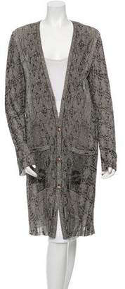 Chanel Metallic Long Cardigan