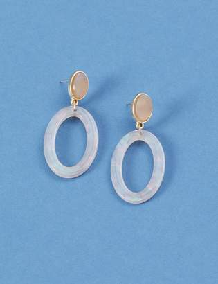 Lane Bryant Resin Oval Drop Earrings