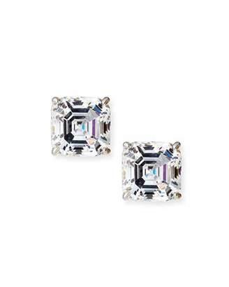 FANTASIA Square-Cut Cubic Zirconia Stud Earrings