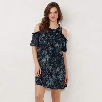 c684382ed Lauren Conrad Women's Ruffle Cold-Shoulder Dress