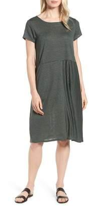 Eileen Fisher Stripe Organic Linen Jersey Shift Dress