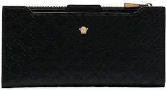 Versace Greek Key embossed wallet