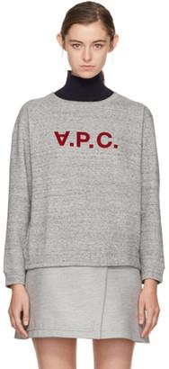 A.P.C. Grey Ethel Sweatshirt $165 thestylecure.com