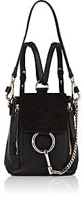 Chloé Women's Faye Mini Leather & Suede Backpack - Black