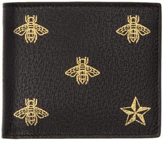 Gucci Black Bee Star Wallet