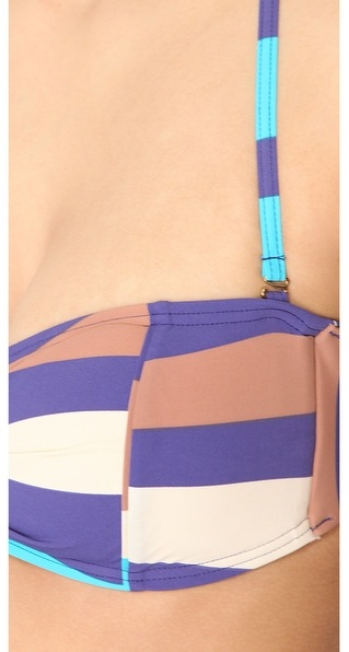 Marc by Marc Jacobs Vintage Stripe Bandeau Bikini Top