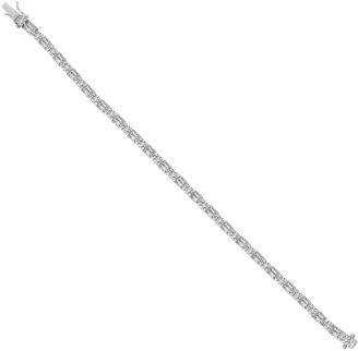 Diamonique Baguette Tennis Bracelet, Platinum Clad