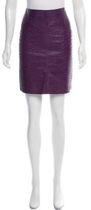 Prada Ostrich Leather Skirt
