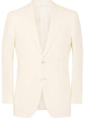 Dunhill Cream Belgravia Slim-Fit Linen Blazer