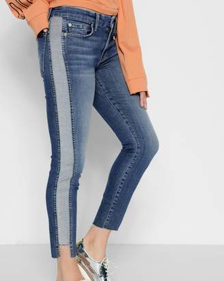 7 For All Mankind Ankle Skinny with Reverse Step Side Panel in Mojave Dusk