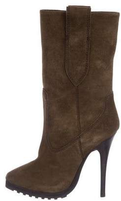 Giuseppe Zanotti Pointed-Toe Suede Mid-Calf Boots