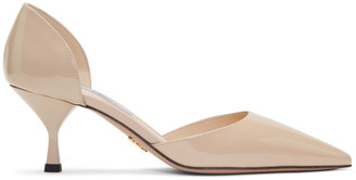 Prada Beige Patent DOrsay Heels