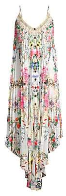 Camilla Women's La Fleur Libertine Silk Floral Pleated Handkerchief Shift Dress
