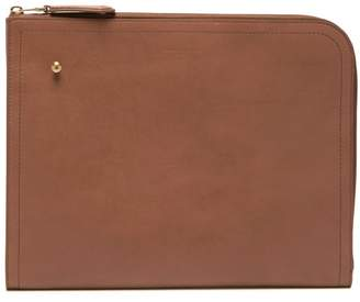 Dunhill Duke Large Leather Folio - Mens - Tan