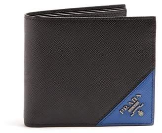 Prada Bi Fold Saffiano Leather Wallet - Mens - Black