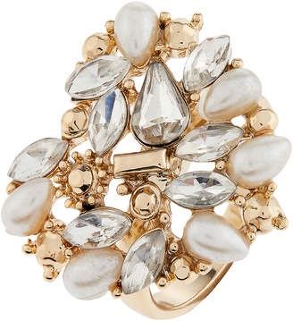Accessorize Pearl & Crystal Heart Ring