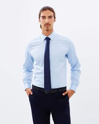 Brooksfield Textured Plain Reg-Fit Shirt