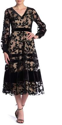 Taylor Sheer Lace Long Sleeve Maxi Dress