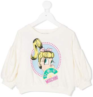Moschino Kids printed logo sweater