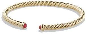 David Yurman Cable Spira Bracelet With Blue Sapphires In 18K Gold, 4Mm