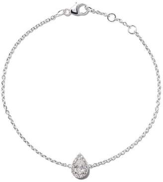 De Beers 18kt white gold My First Aura pear cut diamond bracelet