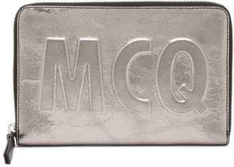 McQ Travel Crackle Leather Wallet