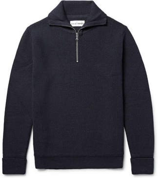 Privee SALLE Rikard Virgin Wool Half-Zip Sweater
