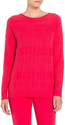 St. John Cashmere Wool Blend Rib Knit Sweater