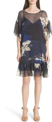 See by Chloe Floral Print Ruffle Trim Dress
