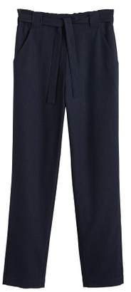 MANGO Cotton suit trousers
