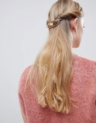 Asos Design DESIGN sleek open circle barette hair clip in rose gold