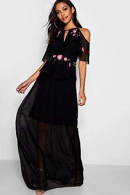 boohoo NEW Womens Tall Boutique Embellished Maxi Dress in