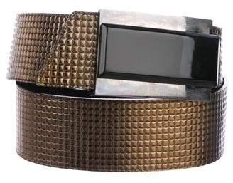 Just Cavalli Embossed Metallic Wrap Belt