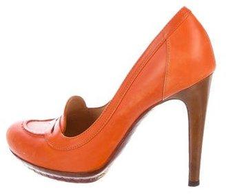 Bottega Veneta Leather Loafer Pumps