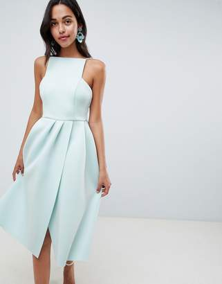 Asos Design DESIGN strappy open back midi prom dress