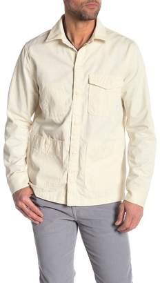Save Khaki Chore Solid Long Sleeve Regular Fit Shirt Jacket