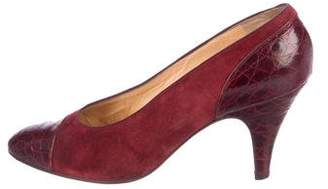 Christian Dior Leather Almond-Toe Pumps