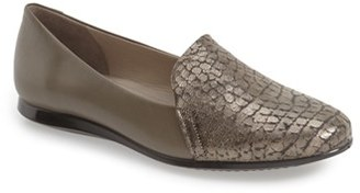 Women's Ecco 'Touch 2.0' Snake Embossed Flat $129.95 thestylecure.com