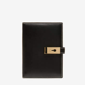 Bally April Black, Women's plain calf leather wide wallet in black