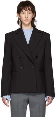 MM6 MAISON MARGIELA Black Wool Double-Breasted Blazer