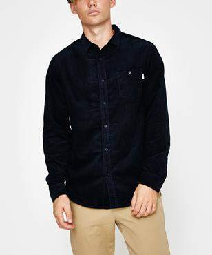 rhythm Corduroy Long Sleeve Shirt Dark Navy