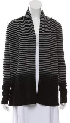 Theory Cashmere Striped Cardigan
