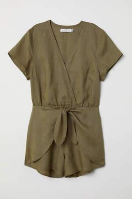 H&M Linen Jumpsuit - Green