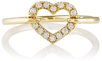 Finn Women's White-Diamond Open Heart Ring