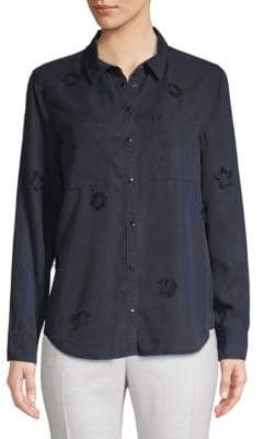 Jak & Rae Distressed Star Button-Down Shirt